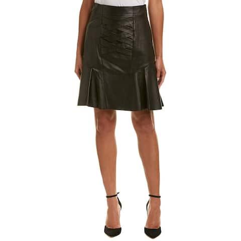 Derek Lam 10 Crosby Peplum Leather Pencil Skirt