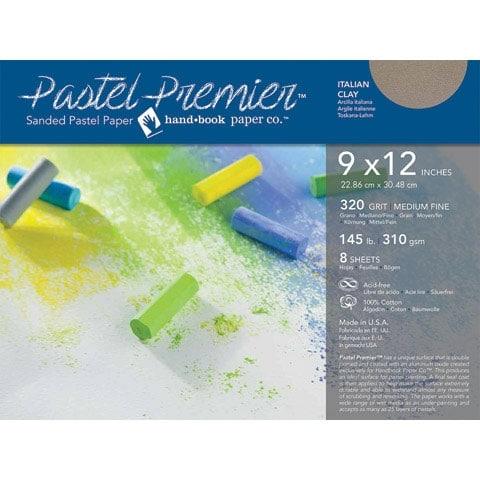 "Global Art - Pastel Premier Sanded Paper - 320 Grit - Italian Clay - 12"" x 16"", 6 Shts./Pkg."