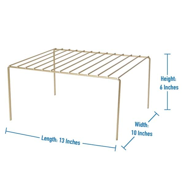 Kitchen Details Medium Helper Shelf In Satin Gold 12 6 X 10 2 X 6 Overstock 32035023