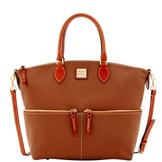 Dooney & Bourke Pebble Grain Large Pocket Satchel (Introduced by Dooney & Bourke at $298 in Sep 2016) - Bark