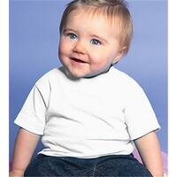 Rabbit Skins 3401 Infant Cotton T-Shirt, White, Size - 24