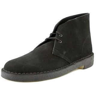 Clarks Desert Boot Men  Round Toe Suede Black Desert Boot