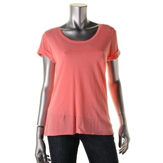 Splendid Womens Cotton Cuffed Sleeve T-Shirt