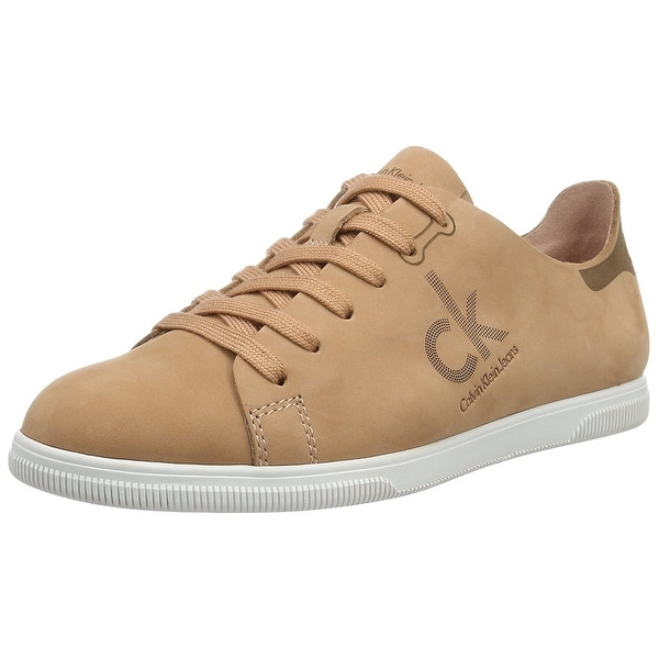 Calvin Klein Womens Sailor NuBuck Low Top Lace Up Fashion Sneakers