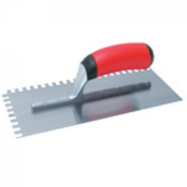 Marshalltown 15672 Square Notched Trowel, 11x4-1/2