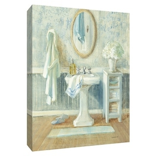 """PTM Images 9-154786  PTM Canvas Collection 10"""" x 8"""" - """"Victorian Sink II"""" Giclee Toiletries Art Print on Canvas"""