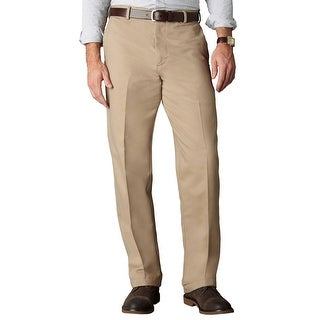 Dockers Signature Khaki Relaxed Fit Flat Front Chinos Pants Beige 32 x 30