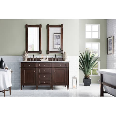 Brittany 60-inch Burnished Mahogany Double Cabinet