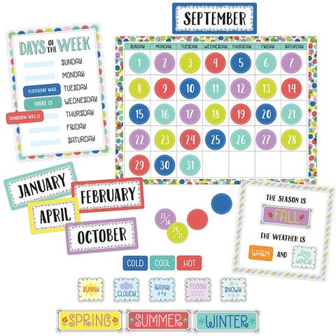 Color Pop Calendar Set - Multi