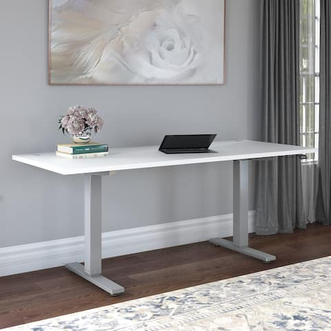 Cabot 72W Electric Height Adjustable Standing Desk by Bush Furniture