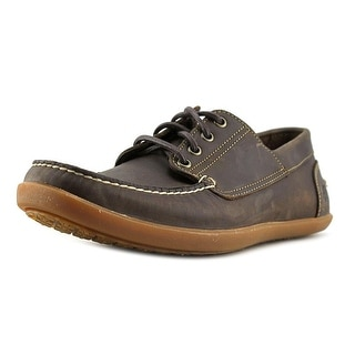 Timberland Odelay 4 Eye Camp Men  Moc Toe Leather Brown Boat Shoe