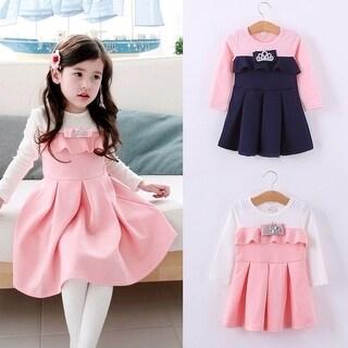 Girls Baby long sleeve dress fall