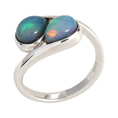 925 Sterling Silver Ethiopian Opal Ring