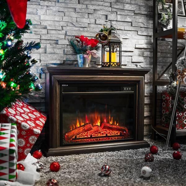 Shop Belleze 1400w Embedded Electric Fireplace Insert Freestanding