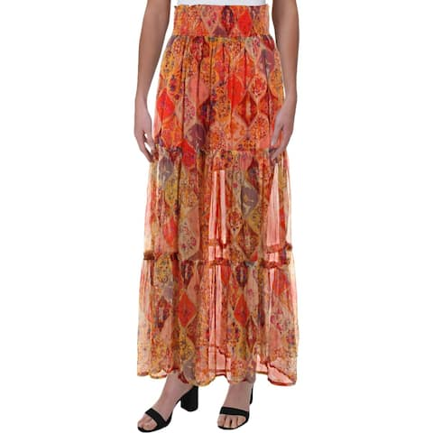 Free People Womens The Great Escape Maxi Skirt Boho Long