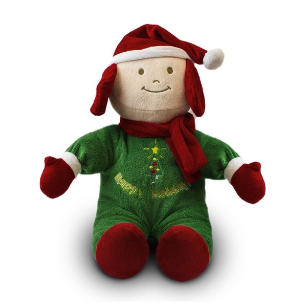 Beverly Hills Teddy Bear Company Christmas Doll Green