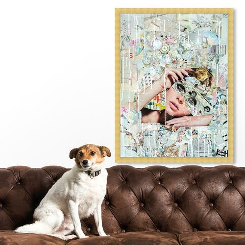 Oliver Gal 'Katy Hirschfeld - Handsome Youths' Fashion and Glam Wall Art Framed Print Portraits - White, Pink