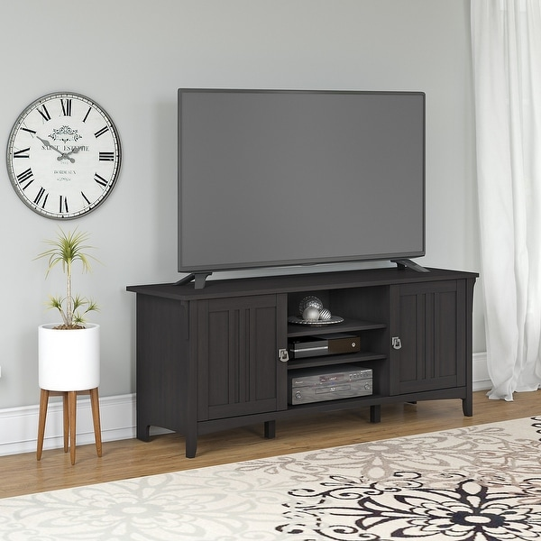 The Gray Barn Lowbridge 60-inch TV Stand. Opens flyout.