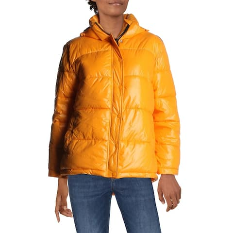 Aqua Womens Puffer Coat Winter Quilted