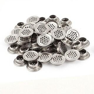 50 Pcs 19mm Bottom Diameter Stainless Steel Round Mesh Hole Air Mini Vent Louver