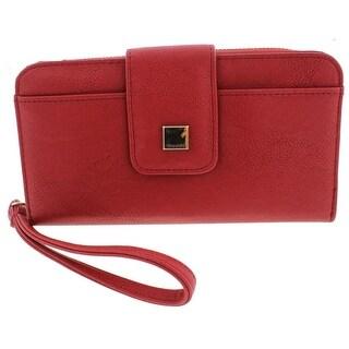 Tahari Womens Modern Times Wristlet Wallet Faux Leather Organizational - o/s