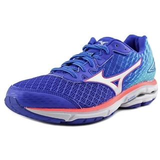 Mizuno Wave Rider 19 Women Round Toe Synthetic Blue Sneakers