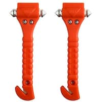2PCS Auto Car Safety Emergency Hammer Escape Tool Survival Kit Window Punch Breaker Seatbelt Cutter