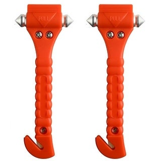 2PCS Auto Car Safety Emergency Hammer Escape Tool Survival Kit Window Punch Breaker Seatbelt Cutter