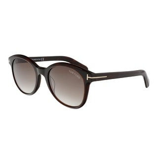 Link to Tom Ford FT0298 52F Riley Brown Round Sunglasses - 51-19-140 Similar Items in Women's Sunglasses