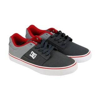 DC Bridge TX Mens Grey Textile Lace Up Lace Up Sneakers Shoes