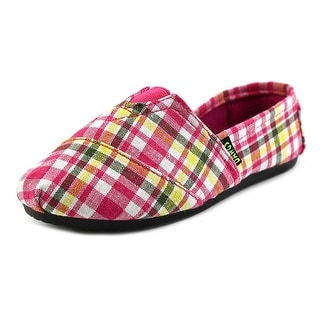 Dawgs Youth Kaymann Youth EW Round Toe Canvas Pink Slipper