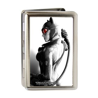 Arkham City Catwoman Whip Pose Fcg Grays Red Business Card Holder