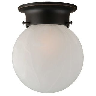 Design House 514521 Single Light Flushmount Ceiling Fixture from the Millbridge Collection
