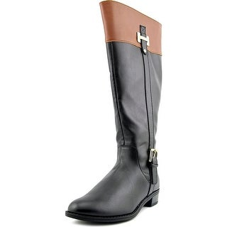Karen Scott Womens Deliee WIDE CALF Leather Closed Toe Knee High Riding Boots