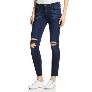 Joe's Jeans Womens Ankle Jeans Destroyed Dark Wash