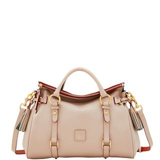 Dooney & Bourke Raleigh Medium Satchel (Introduced by Dooney & Bourke at $398 in Aug 2017) - Oyster|https://ak1.ostkcdn.com/images/products/is/images/direct/a961d9745c8fc49cf0e94384bf84cec9e2d43ce7/Dooney-%26-Bourke-Raleigh-Medium-Satchel-%28Introduced-by-Dooney-%26-Bourke-at-%24398-in-Aug-2017%29.jpg?impolicy=medium