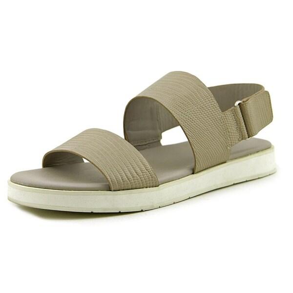 Shop Vince Brennen Women Light Gray Lizard Sandals - Free Shipping ... ff87354aa