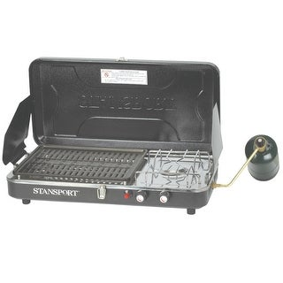 Stansport Propane Stove and Grill Combo with Piezo Igniter 206