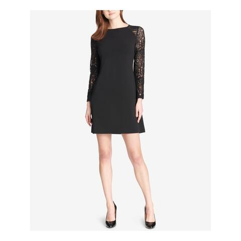 TOMMY HILFIGER Black Long Sleeve Short Dress 14