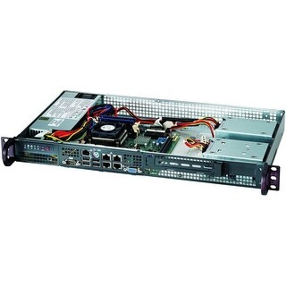Supermicro Cse-505-203B Rack Mount Server Chassis, Black