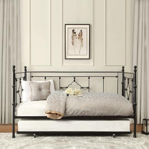 Fain Metal Daybed with Trundle