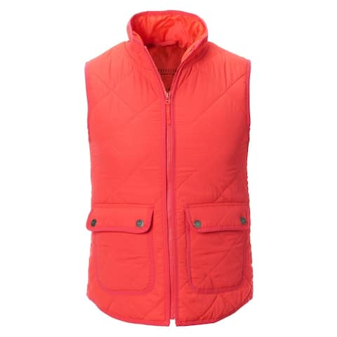 Aeropostale Womens Diamond Quilted Vest