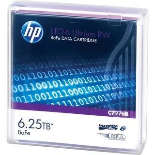 Hewlett Packard C7976B HP LTO-6 Ultrium 6.25 TB BaFe RW Data Cartridge - LTO-6 -