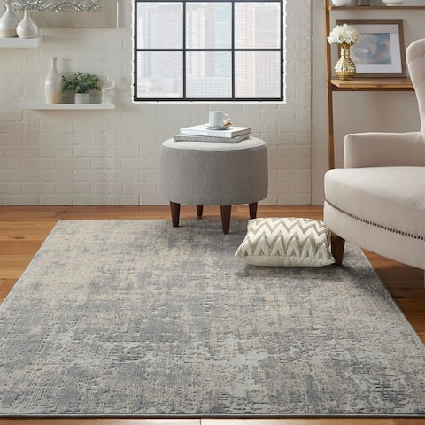 Rustic Textures Distressed Contemporary Abstract Area Rug