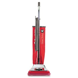 Electrolux Sanitaire SC888K Heavy-Duty Commercial Upright Vacuum- 17.5 lbs- Chrome/Red