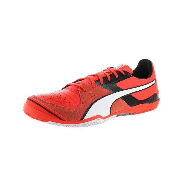 adec5e2dc850 Puma Mens Invicto Sala Soccer Shoes Suede Non-Marking Pink 9 Medium (D)