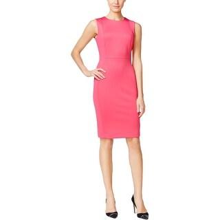 Calvin Klein Womens Wear to Work Dress Scuba Sleeveless