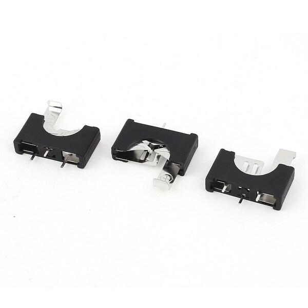 Unique Bargains 3pcs Black Plastic CR/LIR2025 Cell Button Lithium Batteries Socket Holder