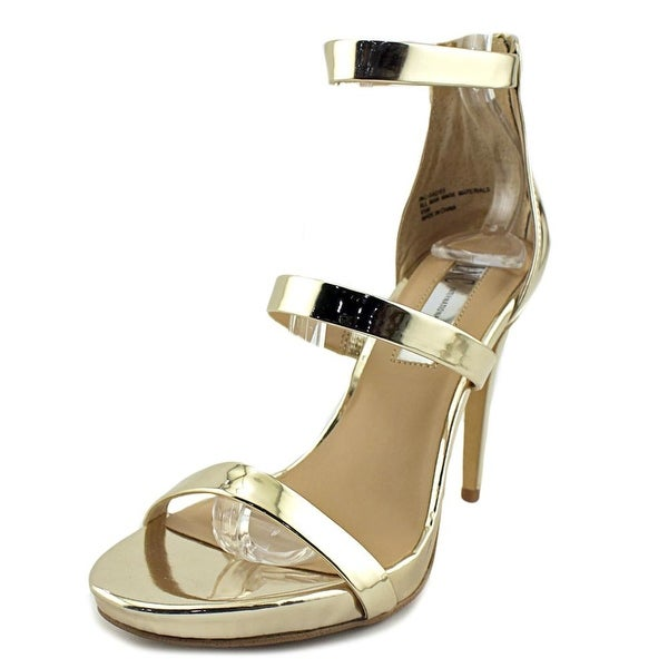 INC International Concepts Sadie Women Open Toe Synthetic Gold Sandals