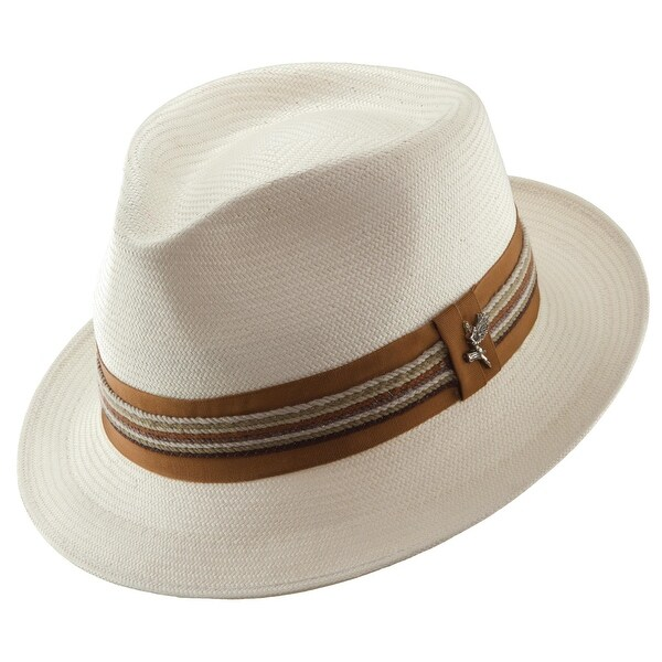 Santana Men's Shantung Salvador Pinch Front Fedora Hat